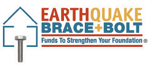 Earthquake Brace Bolt - Funds to Strengthen your Foundation