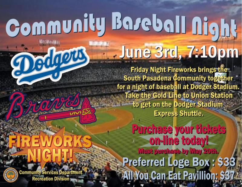 Community Baseball Night - Friday June 3_ 2016 at 7_10 p.m. - Tickets must be purchased by May 20_ 2016