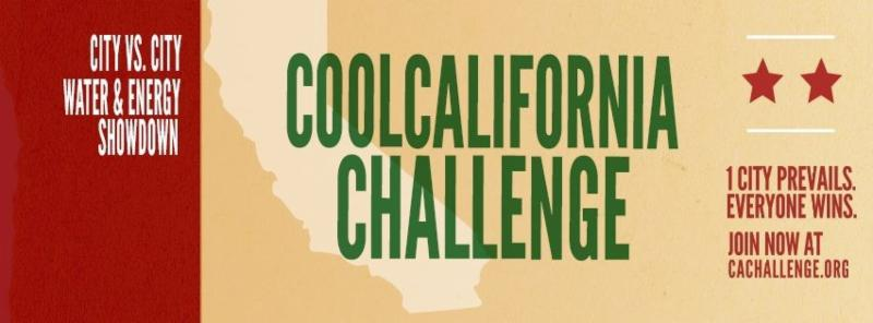 Cool California Challenge Banner - _City vs. City Water and Energy Showdown - 1 City Prevails. Everyone Wins. Join now at cachallenge.org_