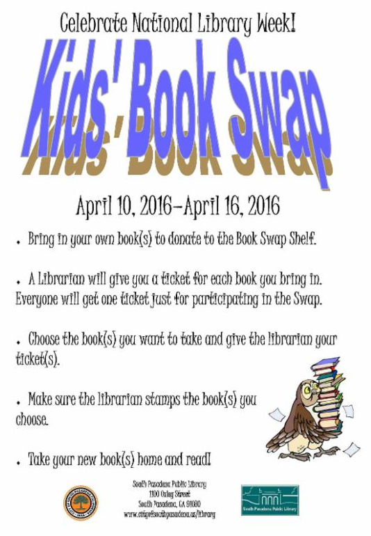 Kids_ Book Swap - April 10 to April 16_ 2016 - Celebrate National Library Week_