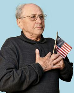 Man Amer Flag