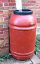 Rain barrel installed by Glorious Gardens