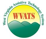 Graphic logo for the West Virginia Assistive Technology System showing