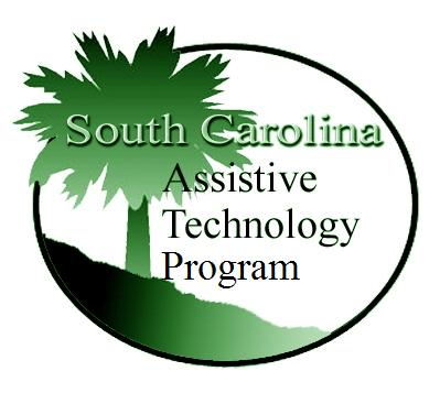 Logo for the South Carolina Assistive Technology Program showing a palm tree and a slope.