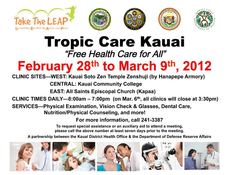 Tropic care flier