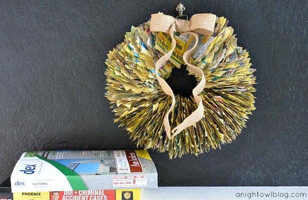 phonebook wreath