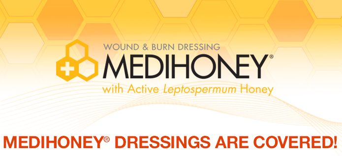 MEDIHONEY® Dressings Are Covered!