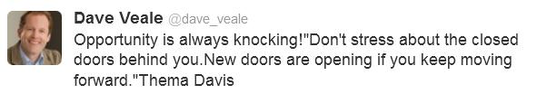 Dave Veale's Sweet Tweet