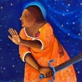 Coyolxauhqui Returns as La Virgen de Guadalupe by Alma Lopez