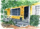 Yellow Porch by Trudie Barreras