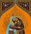 St. Francis and the Sultan by Robert Lentz