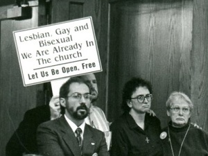 LGBT protest at NCC in 1992