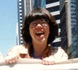 Kittredge Cherry at 1986 Lesbian and Gay Freedom Day Parade