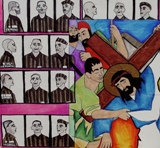 Jesus falls 1st time -  Nazis persecution
