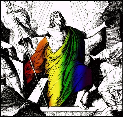 Rainbow Christ Rising by Andrew Craig Williams