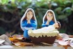 Lesbian Nativity scene