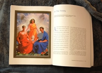 Page from Passion Book with Trinity