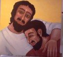 Jesus and Beloved Disciple by Laurie Gudim