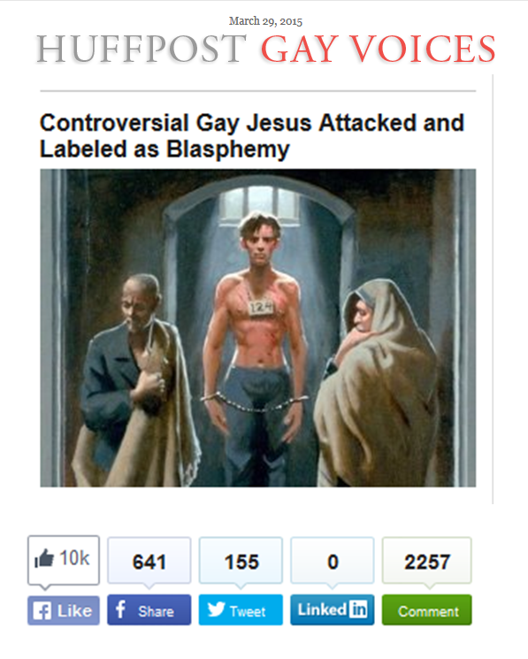 Gay Passion on Huff Post 10K Likes