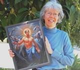 Kittredge Cherry with Jesus Rises by Douglas Blanchard