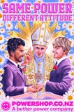 Pope blesses gay marriage in PowerShop billboard