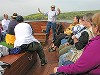 Nancy Wilson preaching on Sea of Galilee