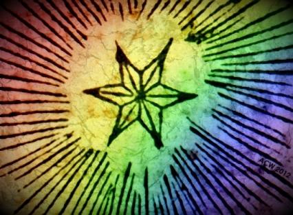 Rainbow Star by Andrew Craig Williams