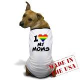 dog in gay pride shirt