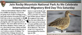 Bird Day at RMNP