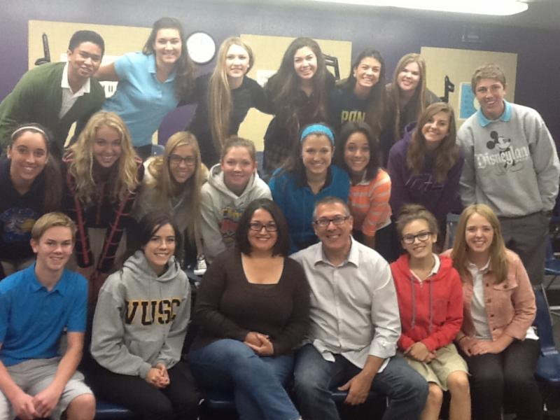 Greg and Emilie Johannes pictured with Northwest Christian Student Council