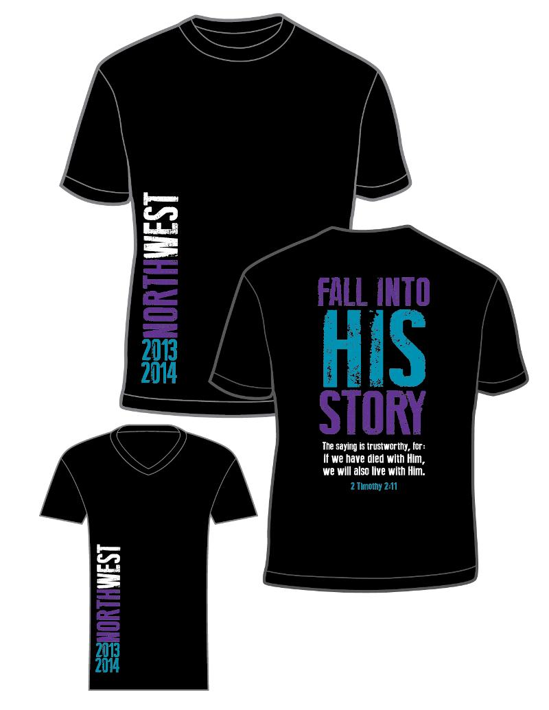 fall into His story tshirts