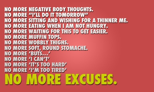 end of the excuses