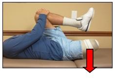 supine hip flexor stretch