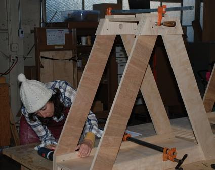 female engineer at workshop