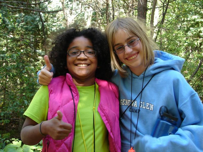 Two Girls Giving a thumbs up to Cool Girl Camp