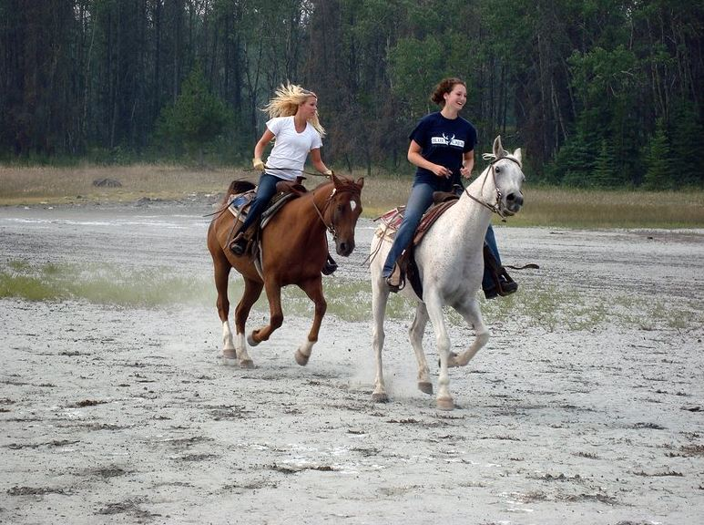 Two Horses with Riders