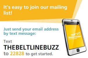 Text to sign up for the Buzz