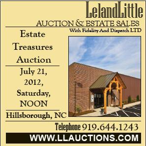 Leland Little Auction July 21, 2012