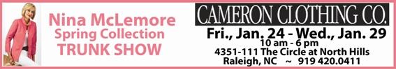 Cameron Clothing Nina McLemore Trunk Show