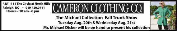 Cameron Clothing the Michael Collection