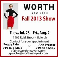Worth Fall Fashions 2013