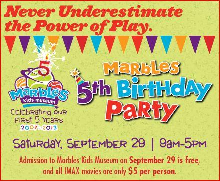 Marbles Museum Birthday