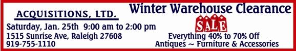 Acquisitions Ltd Winter Clearance Sale