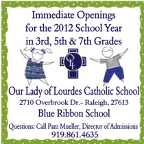 Our Lady of Lourdes Openings for 2012