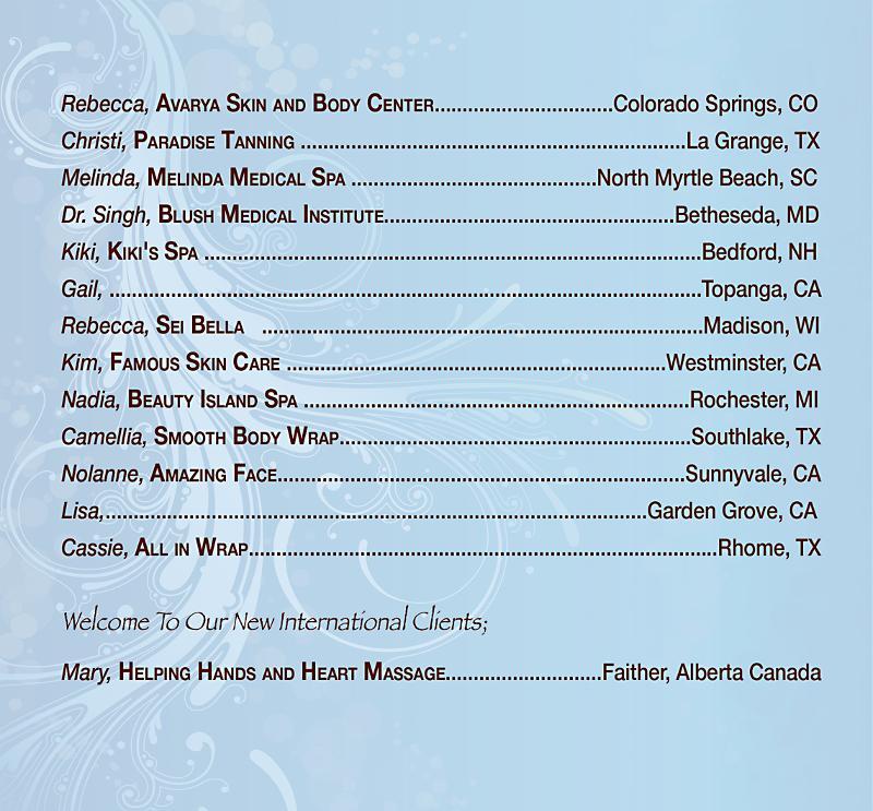 Fall Spa List 2011