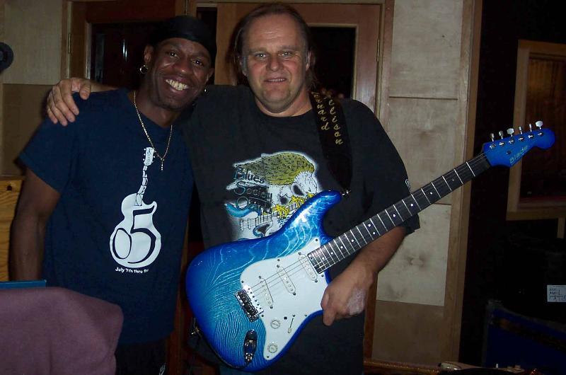 Walter, Bernard and Luther's guitar