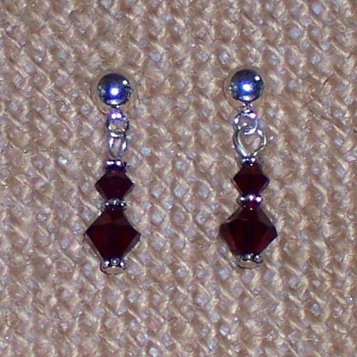 Swarovski Garnet Earrings EAS876