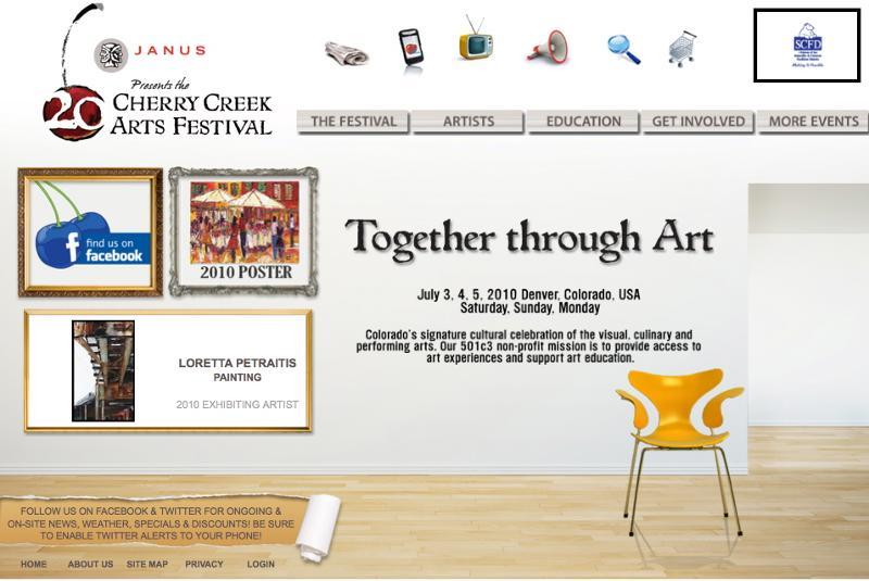 2010 screenshot new homepage