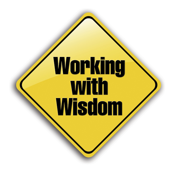 Working with Wisdom Reflective Sign