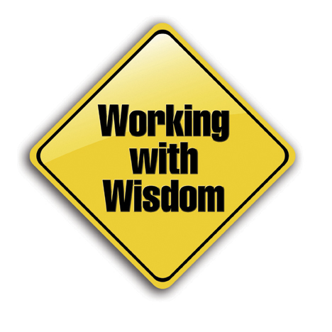 working with Wisdom Small Reflective Sign